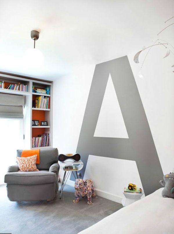 decoracion en paredes con pintura letras
