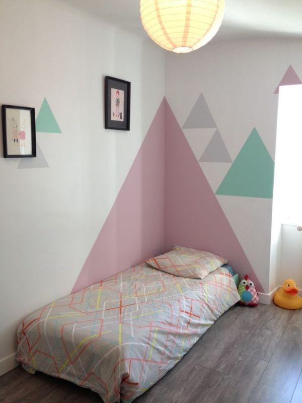 decoracion en paredes con pintura trucos geometricos