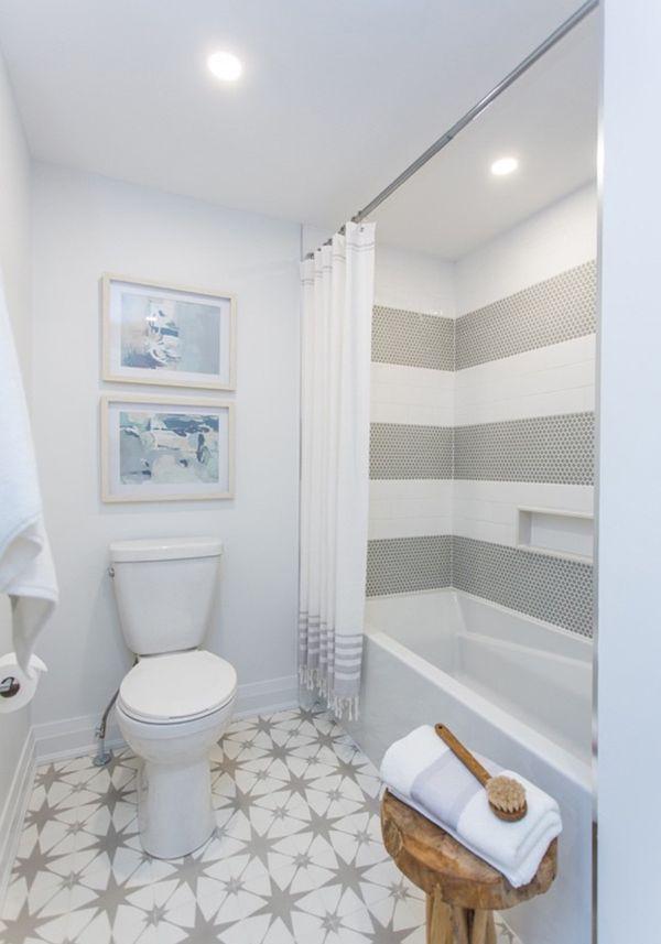 diseños de baños sencillos bonitos contrastes