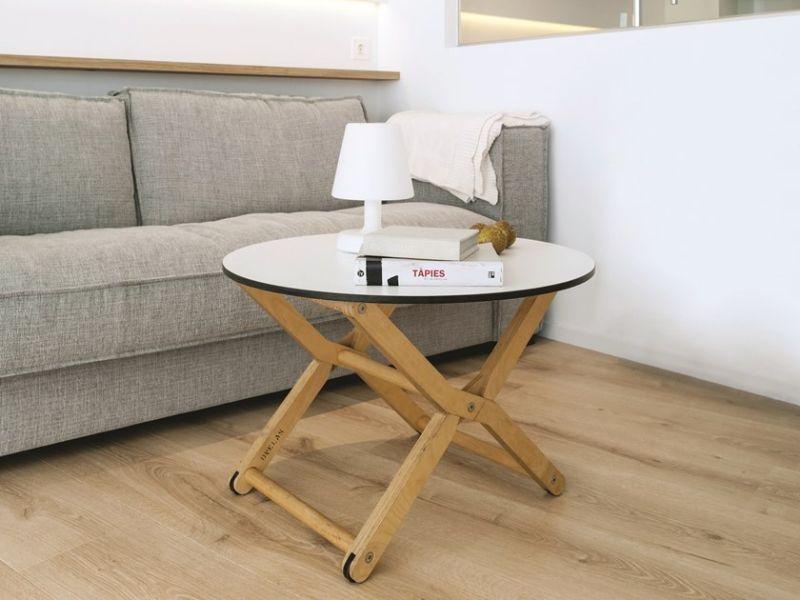 mesas auxiliares de sala patas plegables