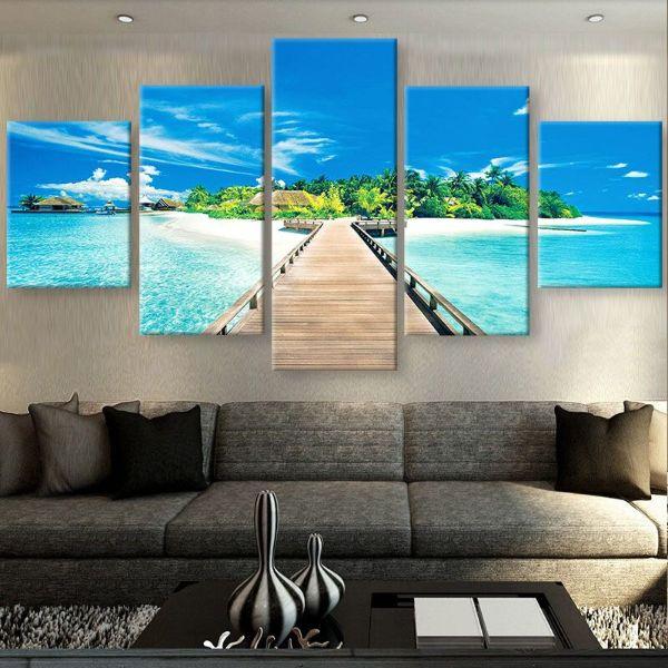 pinturas modernas para sala paisajes