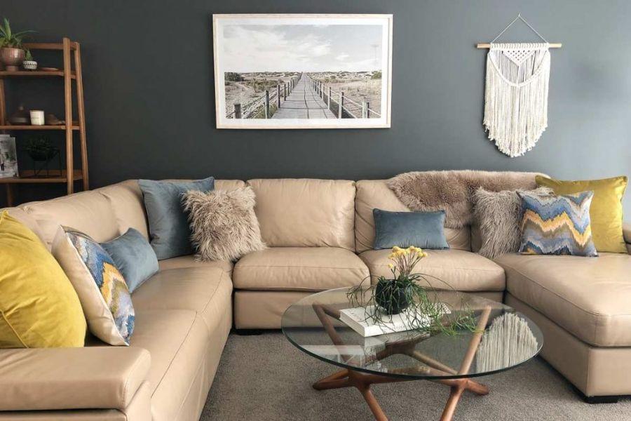 cojines para muebles de sala texturas y colores
