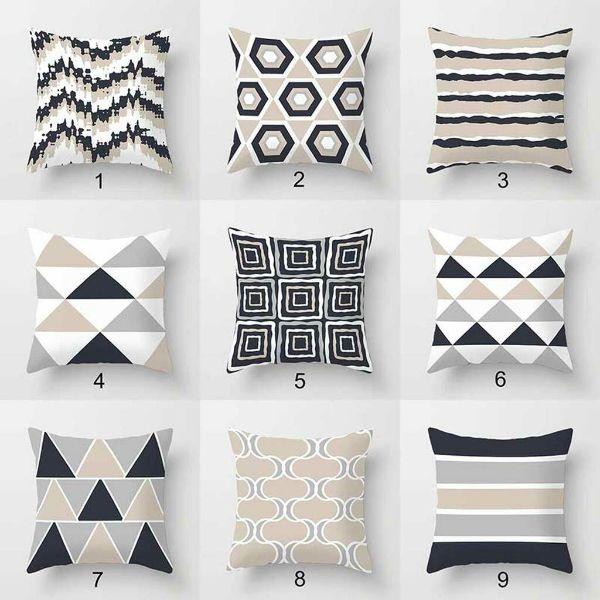 cojines para sofa gris oscuro abstractos