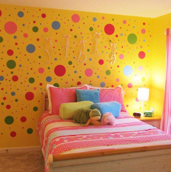 color de habitacion para niños a lunares
