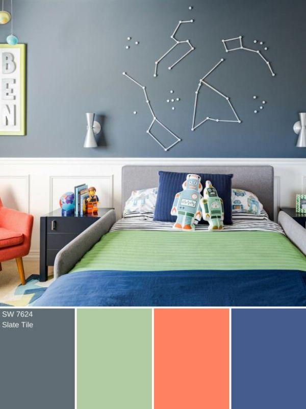 color de habitacion para niños paleta de colores