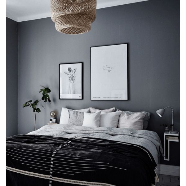 colores oscuros para cuartos gris
