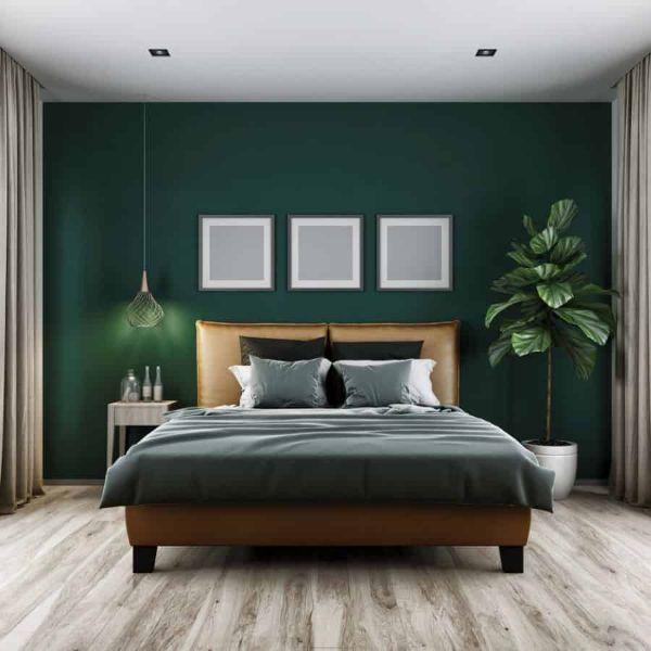 colores oscuros para cuartos verdes
