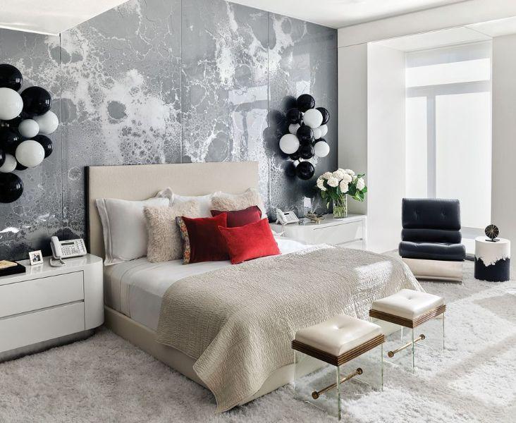 cuarto moderno para mujer texturas en muros