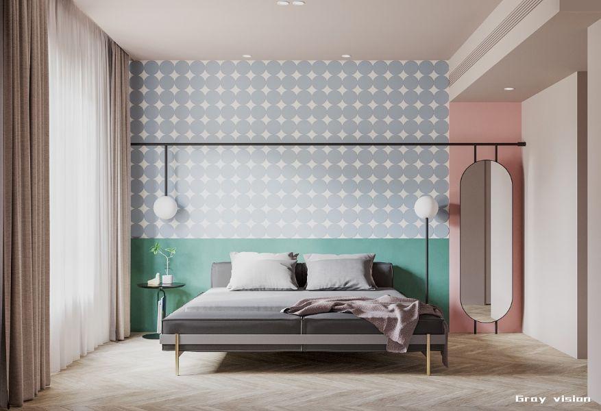decoracion de cuartos de adultos con tapices y estructuras