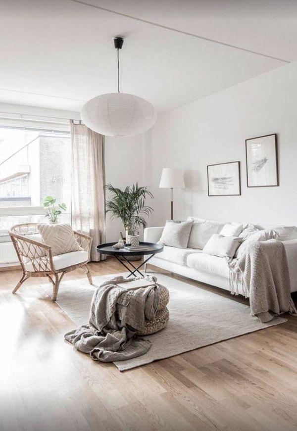decoración para paredes blancas salas