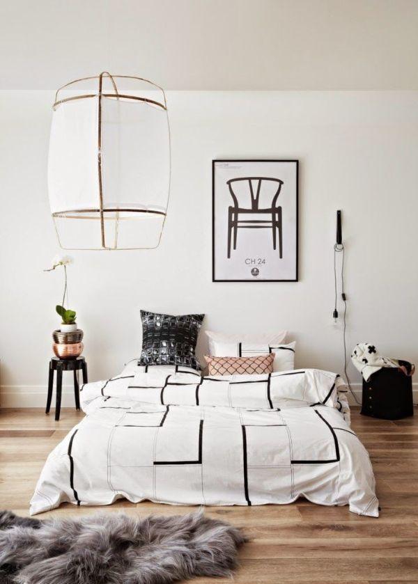 decoración para paredes blancas vivos negros