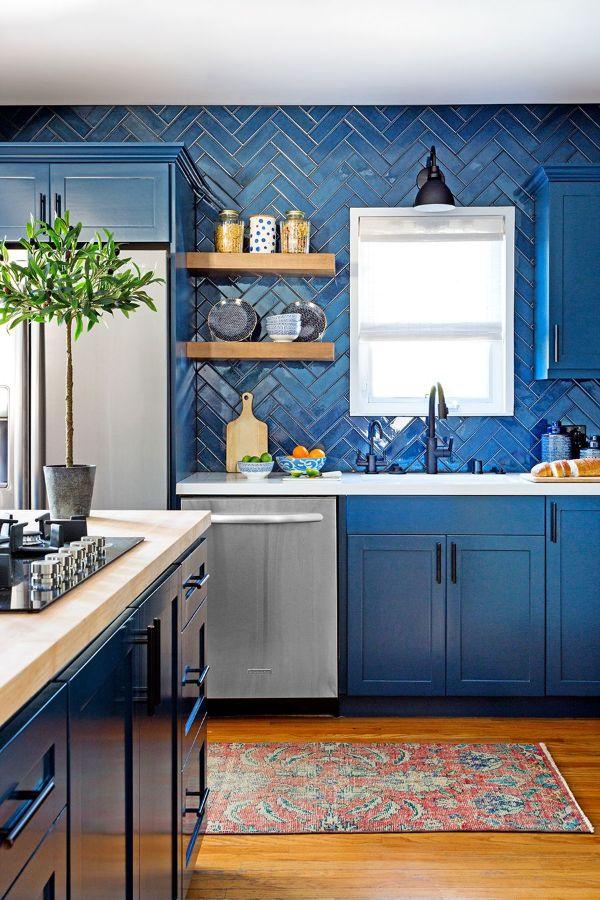 decoraciones de cocinas pequeñas colores en tendencia
