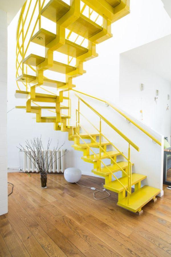 escaleras modernas para interior de metal