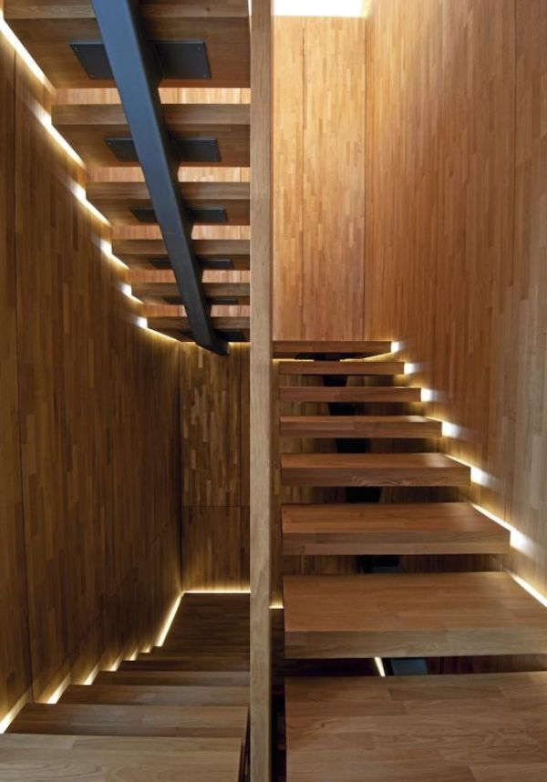 escaleras modernas para interior luminosas