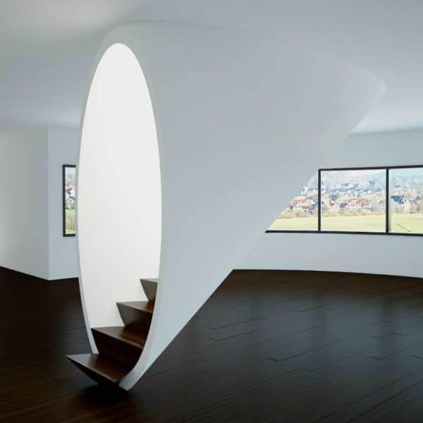 escaleras modernas para interior ocultas