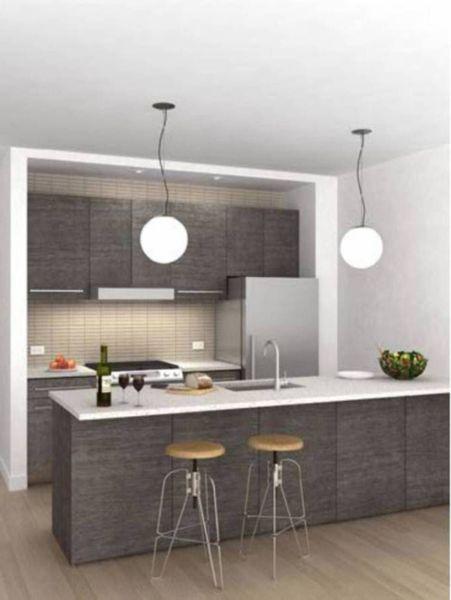 modelos de cocinas pequeñas modernas en gris