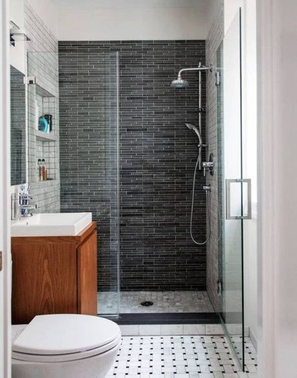 modelos de enchapados de baño tres diferentes texturas