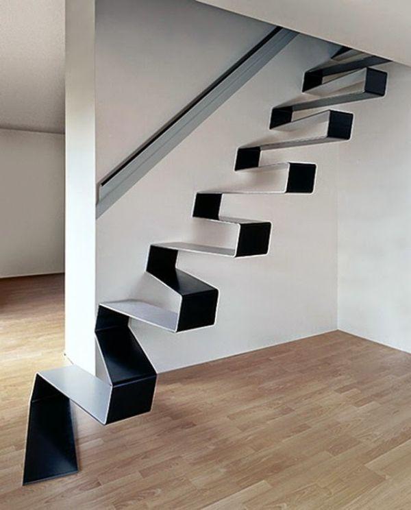 modelos de escaleras para segundo piso sin barandales de metal