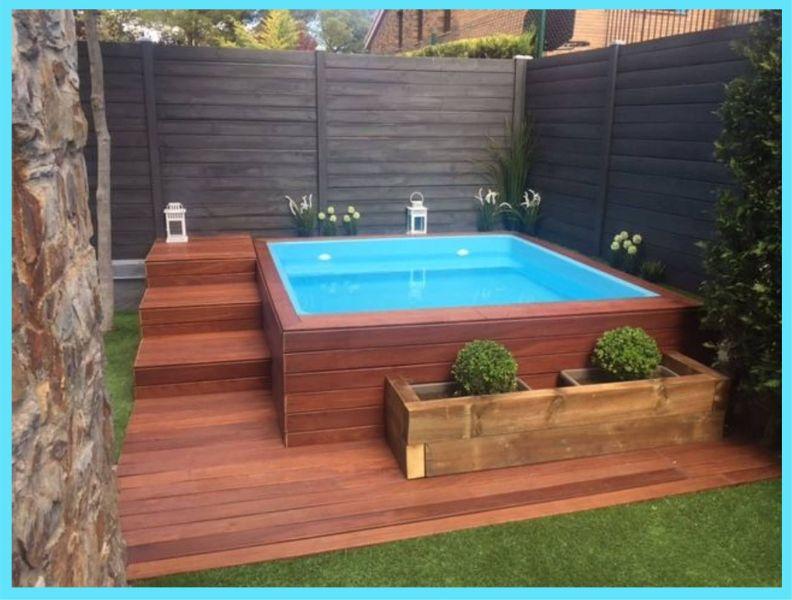 piscinas pequeñas en casa con recubrimiento