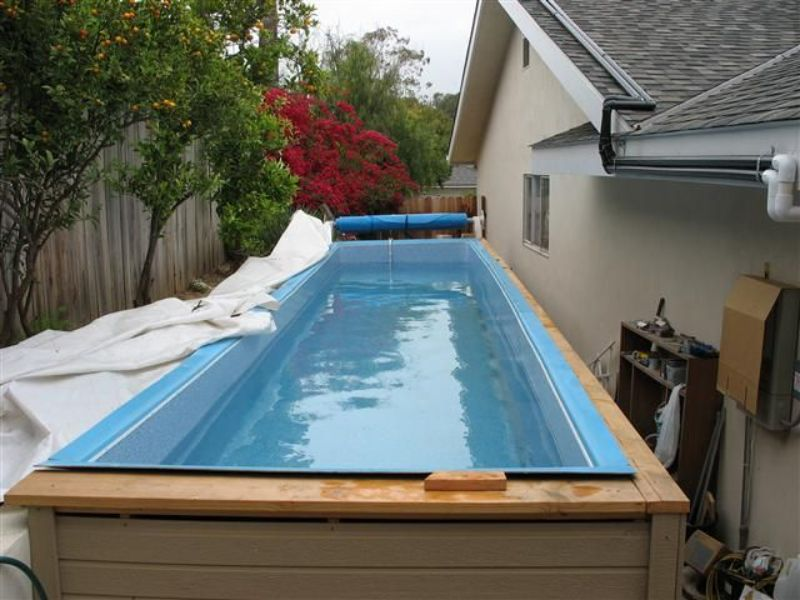 piscinas pequeñas en casa subiendo nivel de piso