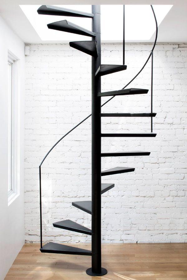 tipos de escaleras para casas caracol