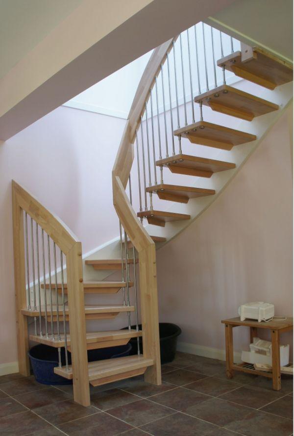 tipos de escaleras para casas rusticas