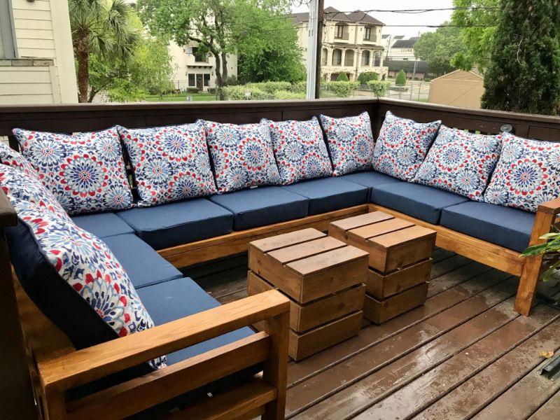 almohadones para sillones de madera boho