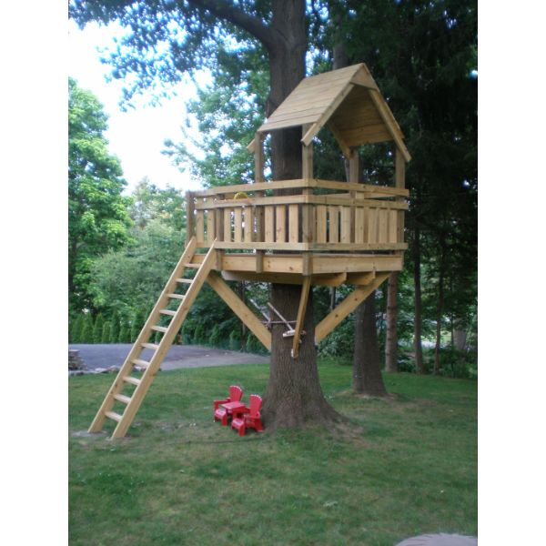casitas de madera para niños en arbol