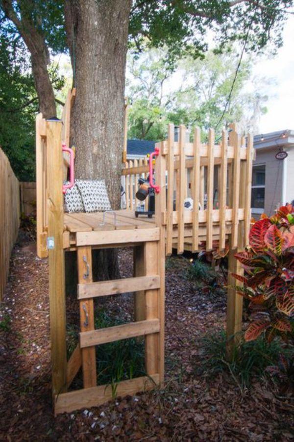 casitas de madera para niños sencillas