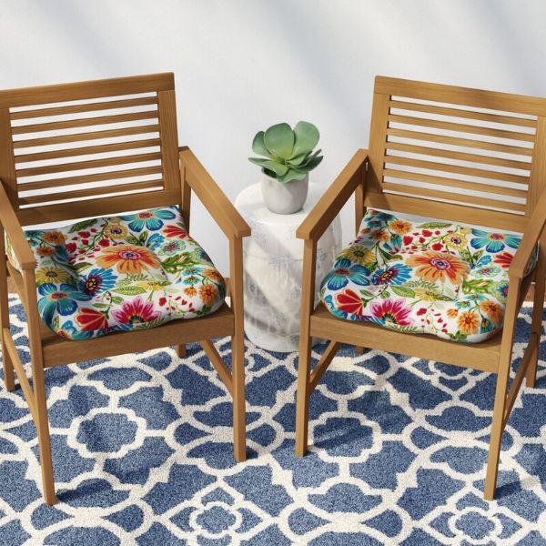 cojines para sillas de patio de flores