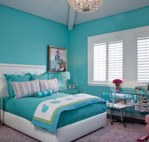 colores para pintar dormitorios verde turquesa