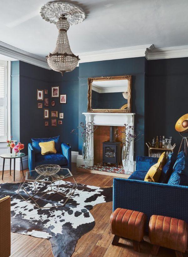 colores para salas de casa azules