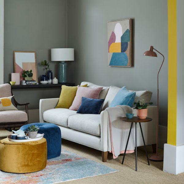 colores para salas de casa gris en contraste
