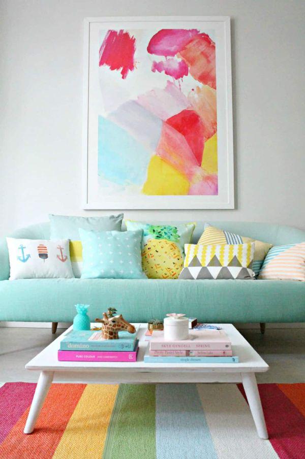 colores pasteles para sala en decorados