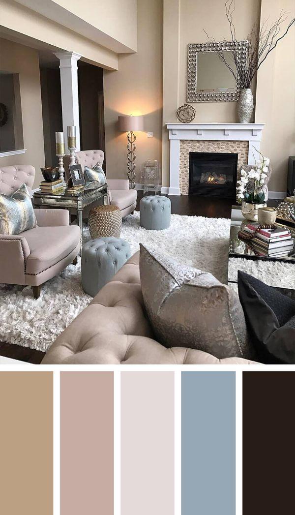 combinacion de colores para sala elegancia