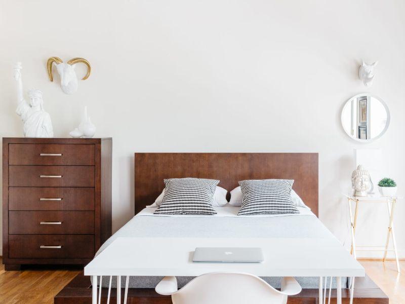 cuartos minimalistas pequeños adornos
