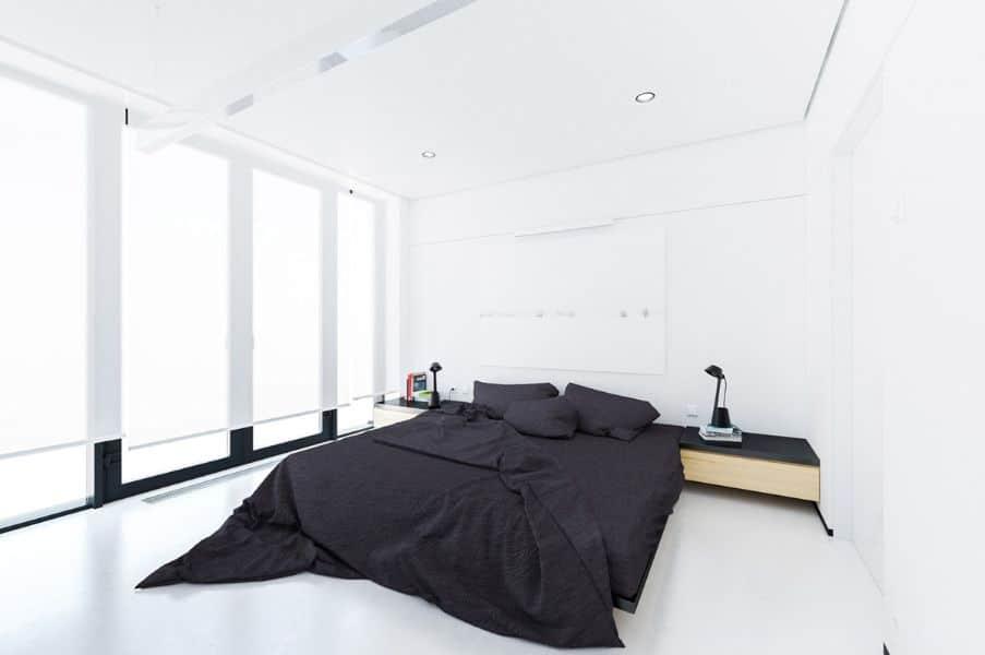 cuartos minimalistas pequeños tonos neutros