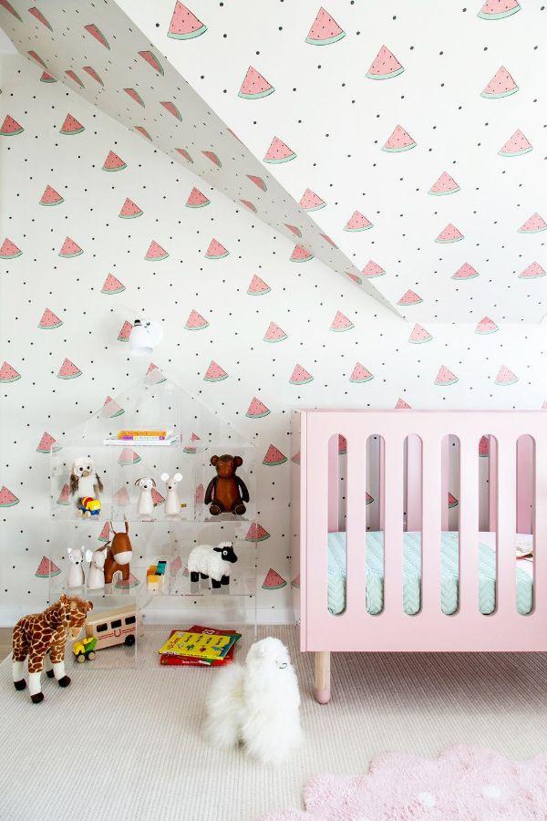 cuartos para niña bebe efectos en la pared