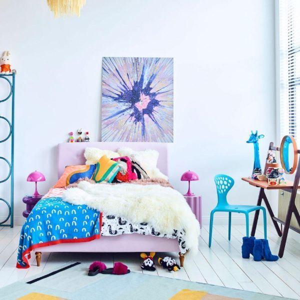 cuartos para niñas adolescentes arte y color