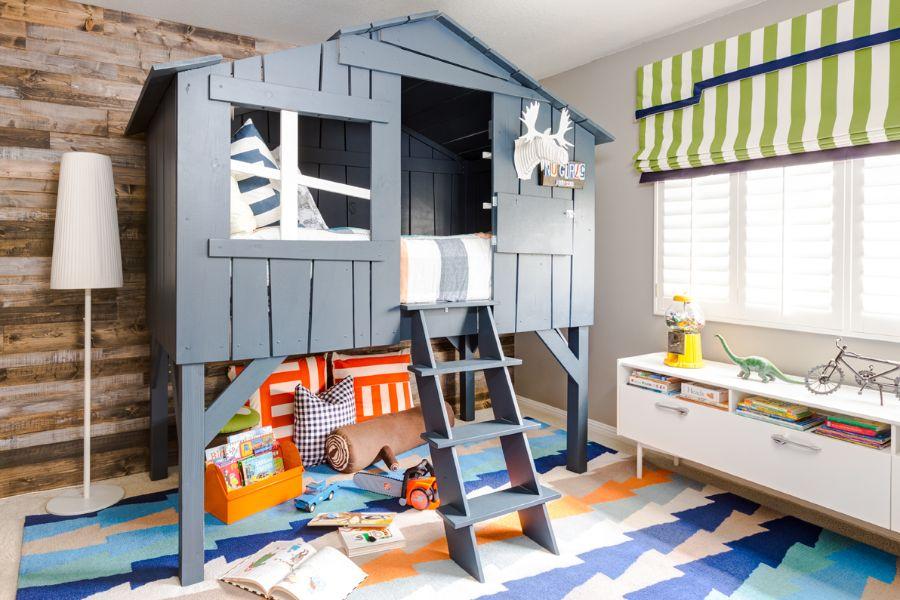 cuartos para niños pequeños casas de madera