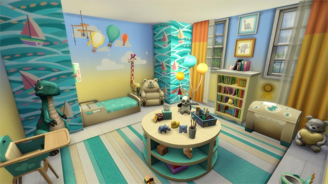cuartos para niños pequeños efectos con las paredes