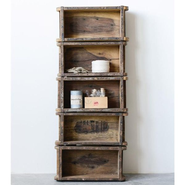 estantes de madera para cocina vintage