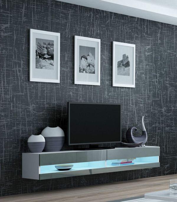 muebles modernos de televisión flotantes