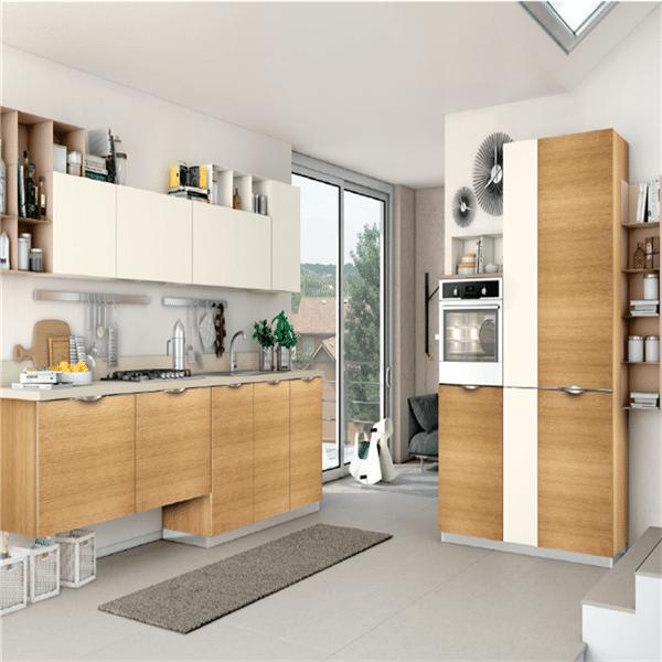 muebles para cocina en melamina estantes altos