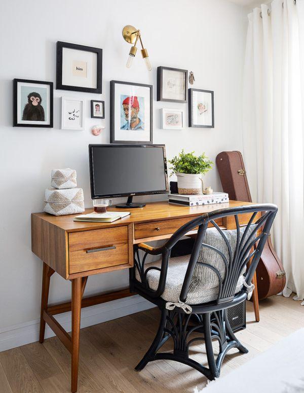 oficinas modernas en casa en un diminuto espacio
