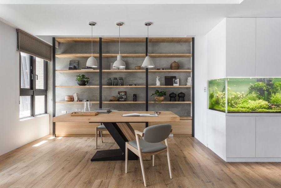 oficinas modernas en casa estilo nordico