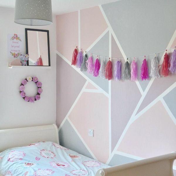 pintura para cuarto de niña ideas geometricas