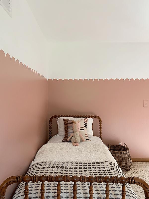 pintura para cuarto de niña rosa