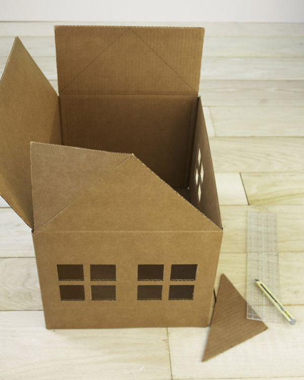 casas para gatos de carton diseño