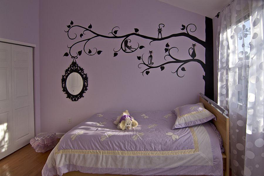como decorar cuartos para niñas murales